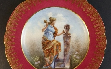 Muse of Sculptors and Builders Limoges Porcelain Plate