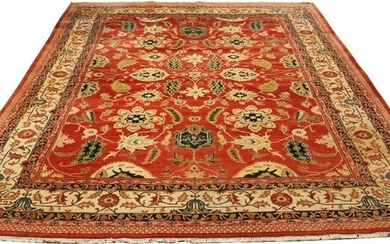 PERSIAN HERIZ WOOL CARPET, W 10', D 14'