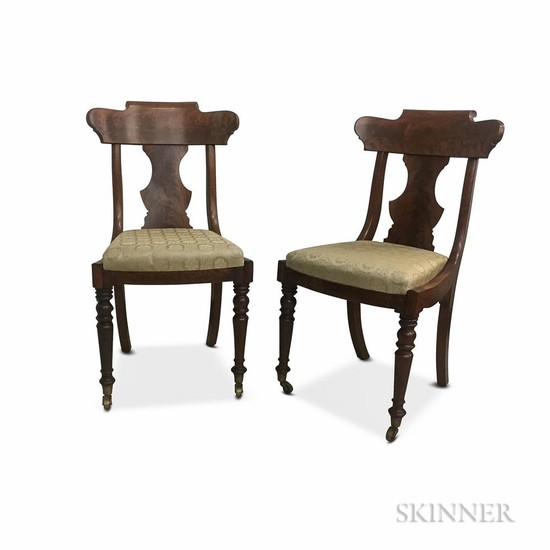 Pair of Classical Mahogany Side Chairs