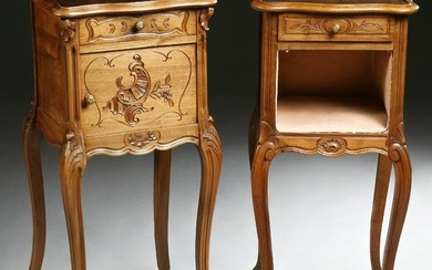 Pair of French Louis XV Style Carved Walnut