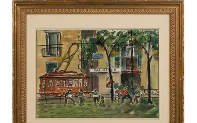Paris Fauvist Painting after Raoul Dufy 1877-1953