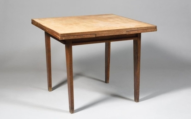 RENÉ GABRIEL (1890-1950) Square top table with Italian-style...