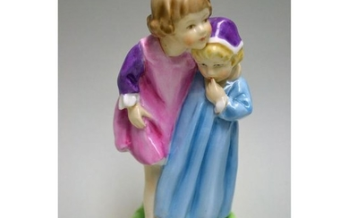 ROYAL WORCESTER BABES IN THE WOODS CHILDREN FIGURINE