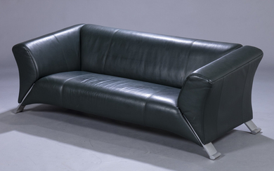 Rolf Benz sofa model 322, green leather Rolf