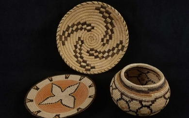 Set of 3 Decorative Choco Indian Baskets From