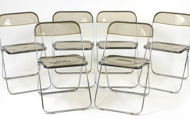 Set of six Vintage Castelli Plia chairs, designed by