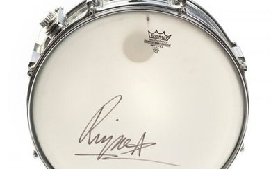 Signed RINGO STARR The Beatles Remo Snare Drum