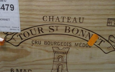 Six cased magnums of Chateau Tour St Bonnet Cru Bourgeois Me...