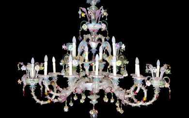 Superbe old Venetian chandelier with a rather large...