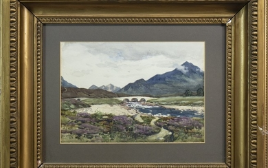 THE CUILLINS, SKYE, A WATERCOLOUR BY ROBERT