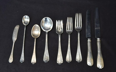 "TIFFANY & Co.""FLEMISH"" STERLING SILVER FLATWARE"