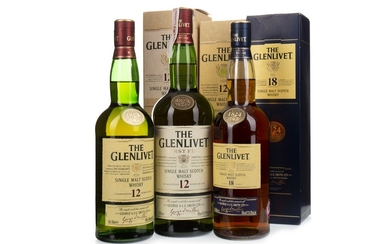 TWO BOTTLES OF GLENLIVET 12 YEARS OLD AND
