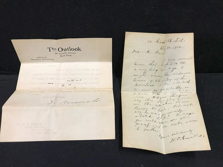 Theodore Roosevelt Letter and Other Correspondence