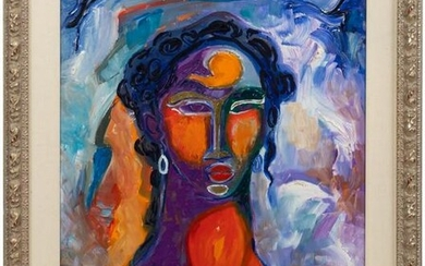 WILLIAM TOLLIVER, PORTRAIT OF A LADY, ACRYLIC