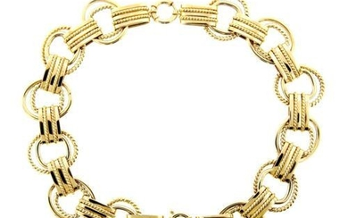 WOW 14k Yellow Gold Pair of Bracelets/Conv; ertable