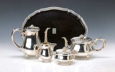 coffee- and tea set with tray, 1950s...