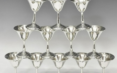 (12) WEIDLICH STERLING SILVER CORDIAL GOBLETS