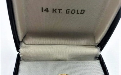14 K YELLOW GOLD And DIAMOND TIE TACK; weight 2.3 dwt;