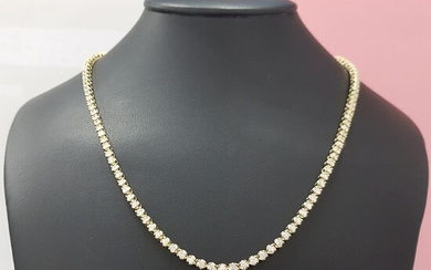 14 kt. Yellow gold - Necklace - 7.25 ct Diamond