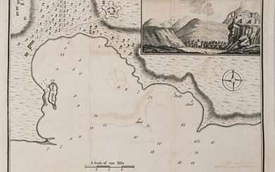 1782 Walker Map of Playa Bay, Cape Verde Islands --