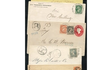 1870-97 Small Queen's covers (8), two registered, five have ...