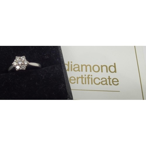 18ct white gold brilliant cut multi diamond ring size L, set...
