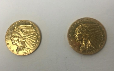 1911 Two and a Half Dollar Gold Coins
