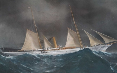 19th Century (Italian School), a Zingara in the Bay of Biscay Watercolour