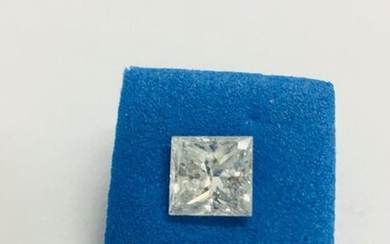 1ct Princess cut Diamond,I Coloured,si1 clarity,excellent cut and symmetry,natural diamond treated by laser