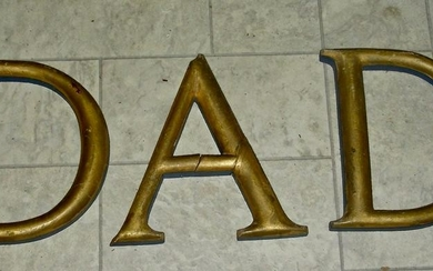 3 Early Gilt Letters – D A D