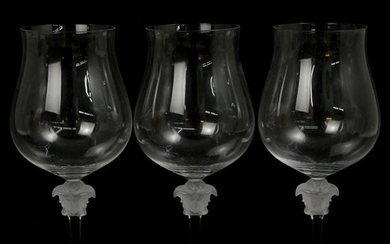 (3 Pc) Rosenthal Versace Lumiere Liquor Glasses