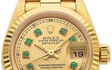 54029: Rolex, Lady's Oyster Perpetual DateJust, 18k Gol