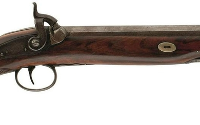 A 14-BORE PERCUSSION OFFICER'S PISTOL, 10inch sighted