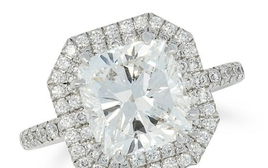 A 3.08 CARAT DIAMOND CLUSTER RING, ADLER in 18ct white
