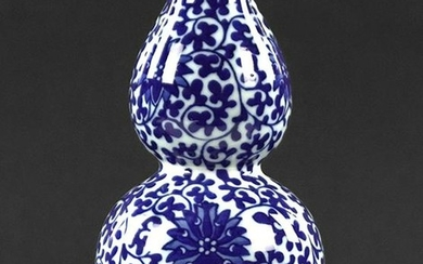 A Chinese Blue and White Double Gourd Vase.