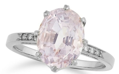 A PINK SAPPHIRE AND DIAMOND DRESS RING set with a