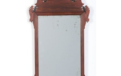 A Red-Stained Chippendale Mirror