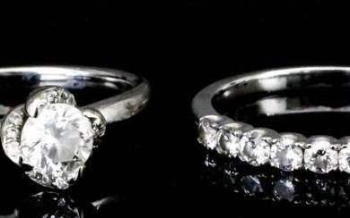 A Solitaire Diamond Ring, and Matching Half Hoop Eternity...