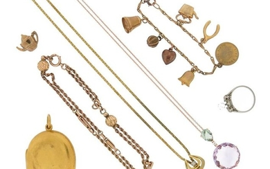 A mixed group of jewellery, including a Victorian...