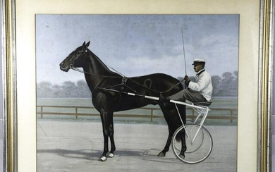 "ALEXANDER POPE (1849-1924) ""TROTTER AND CARRIAGE"""