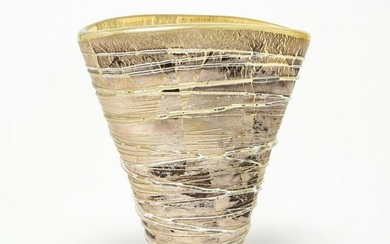 Adam Aaronson Modern Studio Art Glass Vase