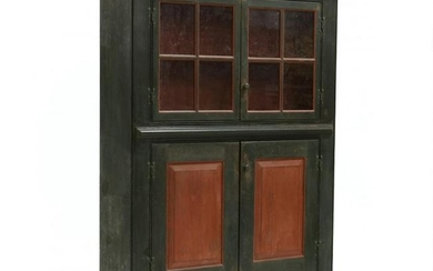 American Federal Style Painted Flat Wall Cupboard
