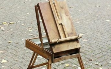 An Early 20th Century French Portable Easel, Beech. 54""