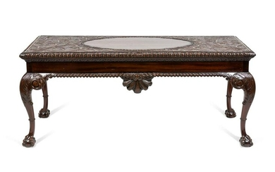 An Irish George III Style Carved Mahogany Console Table