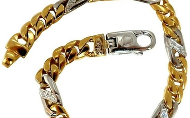 Authentic Italian Braccio Men's Diamond Curb Link