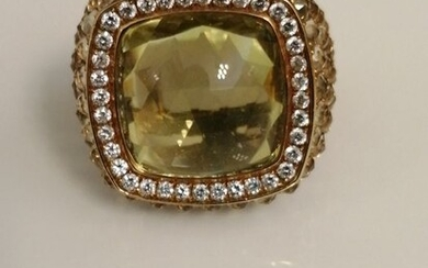 Bonato - 18 kt. Gold, Yellow gold - Ring - 24.60 ct Citrine - Diamonds