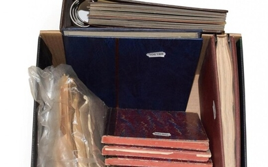 Box GB Several Albums and stock books also selection off...