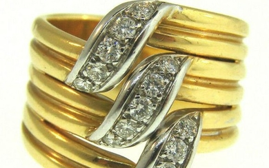 CHIC VINTAGE Cartier Size 52 Diamond 18k Yellow Gold