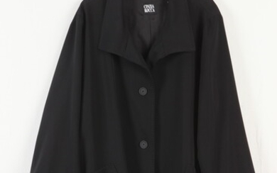 """CINZIA ROCCA BLACK WOOL JACKET, """"Made in Italy"""". - size..."""