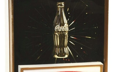 COCA-COLA LIGHT-UP COUNTER DISPLAY.